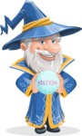 Wizard with a Hat Cartoon Vector Character AKA Waldo the Wise Wizard - Diving