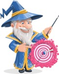Wizard with a Hat Cartoon Vector Character AKA Waldo the Wise Wizard - Target