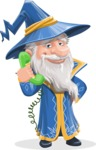 Wizard with a Hat Cartoon Vector Character AKA Waldo the Wise Wizard - Support