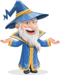 Wizard with a Hat Cartoon Vector Character AKA Waldo the Wise Wizard - Showcase 2
