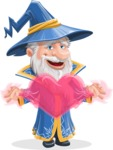 Wizard with a Hat Cartoon Vector Character AKA Waldo the Wise Wizard - Love