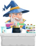 Wizard with a Hat Cartoon Vector Character AKA Waldo the Wise Wizard - Making Magic