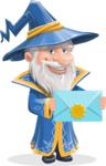Wizard with a Hat Cartoon Vector Character AKA Waldo the Wise Wizard - Mail
