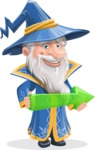 Wizard with a Hat Cartoon Vector Character AKA Waldo the Wise Wizard - Arrow 1