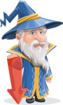 Wizard with a Hat Cartoon Vector Character AKA Waldo the Wise Wizard - Arrow 3