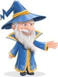 Wizard with a Hat Cartoon Vector Character AKA Waldo the Wise Wizard - Show 1