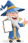 Wizard with a Hat Cartoon Vector Character AKA Waldo the Wise Wizard - Notepad