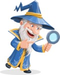 Wizard with a Hat Cartoon Vector Character AKA Waldo the Wise Wizard - Search