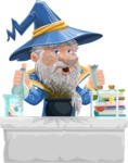 Wizard with a Hat Cartoon Vector Character AKA Waldo the Wise Wizard - Broken