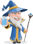 Wizard with a Hat Cartoon Vector Character AKA Waldo the Wise Wizard - iPhone