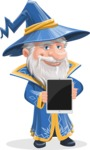Wizard with a Hat Cartoon Vector Character AKA Waldo the Wise Wizard - Tablet 1