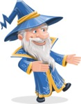 Wizard with a Hat Cartoon Vector Character AKA Waldo the Wise Wizard - Show 2