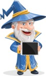 Wizard with a Hat Cartoon Vector Character AKA Waldo the Wise Wizard - Tablet 2
