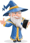 Wizard with a Hat Cartoon Vector Character AKA Waldo the Wise Wizard - Tablet 3