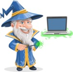 Wizard with a Hat Cartoon Vector Character AKA Waldo the Wise Wizard - Laptop 3