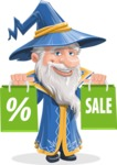 Wizard with a Hat Cartoon Vector Character AKA Waldo the Wise Wizard - Sale 1
