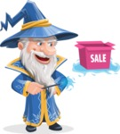 Wizard with a Hat Cartoon Vector Character AKA Waldo the Wise Wizard - Sale 2