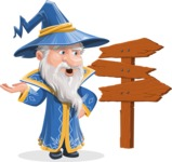 Wizard with a Hat Cartoon Vector Character AKA Waldo the Wise Wizard - Crossroad