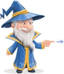 Wizard with a Hat Cartoon Vector Character AKA Waldo the Wise Wizard - Point 1