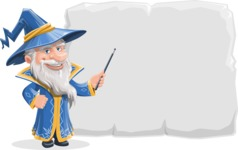 Wizard with a Hat Cartoon Vector Character AKA Waldo the Wise Wizard - Presentation 1