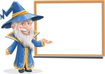 Wizard with a Hat Cartoon Vector Character AKA Waldo the Wise Wizard - Presentation 2