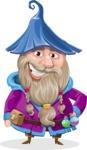 Wizard with Beard Cartoon Vector Character AKA Osborne the Magic Virtuoso - Normal