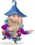 Wizard with Beard Cartoon Vector Character AKA Osborne the Magic Virtuoso - Point 2