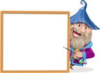 Wizard with Beard Cartoon Vector Character AKA Osborne the Magic Virtuoso - Presentation 4