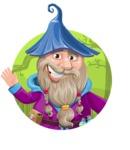 Wizard with Beard Cartoon Vector Character AKA Osborne the Magic Virtuoso - Shape 1