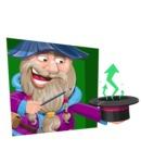 Wizard with Beard Cartoon Vector Character AKA Osborne the Magic Virtuoso - Shape 3