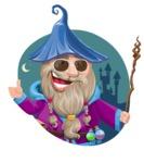 Wizard with Beard Cartoon Vector Character AKA Osborne the Magic Virtuoso - Shape 4