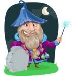 Wizard with Beard Cartoon Vector Character AKA Osborne the Magic Virtuoso - Shape 6