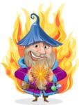 Wizard with Beard Cartoon Vector Character AKA Osborne the Magic Virtuoso - Shape 7