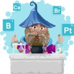Wizard with Beard Cartoon Vector Character AKA Osborne the Magic Virtuoso - Shape 9