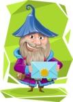 Wizard with Beard Cartoon Vector Character AKA Osborne the Magic Virtuoso - Shape 10