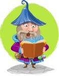 Wizard with Beard Cartoon Vector Character AKA Osborne the Magic Virtuoso - Shape 11