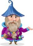 Wizard with Beard Cartoon Vector Character AKA Osborne the Magic Virtuoso - Sorry