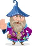 Wizard with Beard Cartoon Vector Character AKA Osborne the Magic Virtuoso - Stop 1