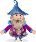 Wizard with Beard Cartoon Vector Character AKA Osborne the Magic Virtuoso - Stunned