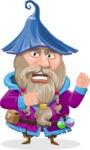 Wizard with Beard Cartoon Vector Character AKA Osborne the Magic Virtuoso - Angry
