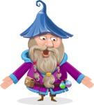 Wizard with Beard Cartoon Vector Character AKA Osborne the Magic Virtuoso - Lost