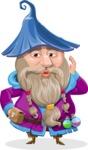 Wizard with Beard Cartoon Vector Character AKA Osborne the Magic Virtuoso - Duckface