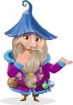 Wizard with Beard Cartoon Vector Character AKA Osborne the Magic Virtuoso - Oops