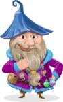 Wizard with Beard Cartoon Vector Character AKA Osborne the Magic Virtuoso - Patient