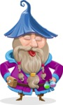 Wizard with Beard Cartoon Vector Character AKA Osborne the Magic Virtuoso - Making Face