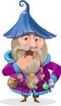 Wizard with Beard Cartoon Vector Character AKA Osborne the Magic Virtuoso - Bored 1