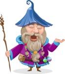 Wizard with Beard Cartoon Vector Character AKA Osborne the Magic Virtuoso - Bored 2