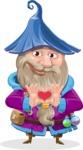 Wizard with Beard Cartoon Vector Character AKA Osborne the Magic Virtuoso - Show Love