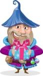 Wizard with Beard Cartoon Vector Character AKA Osborne the Magic Virtuoso - Gift
