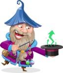 Wizard with Beard Cartoon Vector Character AKA Osborne the Magic Virtuoso - Statistics